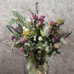 スプリングウェディングの花嫁さま必見!とびきりキュートなカラフルドライのナチュラルブーケ